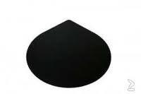 Vloerplaat Druppel 2mm dik poedercoating zwart 1100x1350mm.dh24