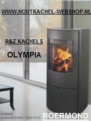 Olympia Athena houtkachel donker antraciet 2-5,5 KW