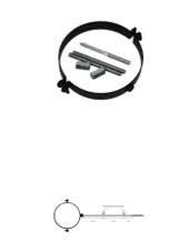 Muurbeugel diam.110 mm zwart