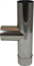 RVS EW Ø120mm - T-stuk 90° met deksel