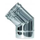 Bocht 30 Graden solinox RVS Dubbelwndig Diam. 100-150mmS06.0