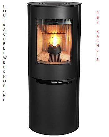 Aduro H2 Hybrid Holz- & Pelletofen zusammen. Heizleistung 3- 9 KW
