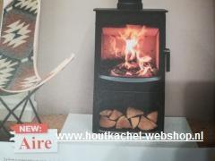 NEU Charnwood AIRE mattschwartz auf sockel  3-7 KW .Rohr Ø 150mm