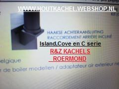 Charnwood rechtwinkliger hinterer Anschluss Island, Cove, C-Serie Durchm. 125/150 / 180 mm