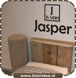 "Sticker ""J is van Jasper"" 60cm h."