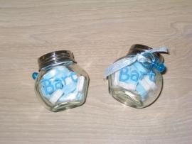 Kleine naamstickers voor geboortebedankje