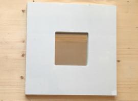 10x spiegeltjes 25,5 x25,5 cm kleur wit
