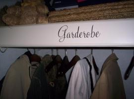 Garderobe  (deursticker)