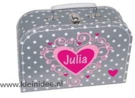 naam Koffertje  Hart Julia