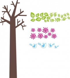 "Sticker ""4 kleurenboom""afmeting 95,5cm breed x 190cm hoog"