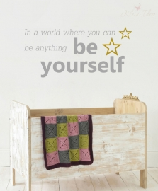 "Sticker ""Be Yourself"" 100cm b. x 47cm h."