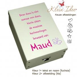 """Geboortedoos 2K """"Deze doos Maud"""""""