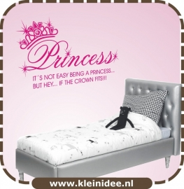 "Sticker ""Princess"" 100cm b. x 60cm h."