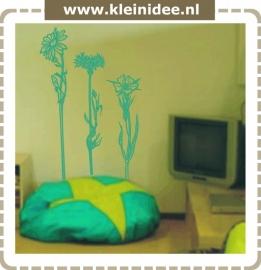 "Sticker ""3 bloemen"" 120x60cm"