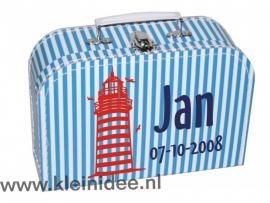 Koffertje Vuurtoren Jan