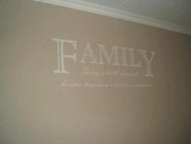 "Sticker ""Family"" te bestellen onder interieurstickers"