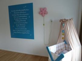 Eigen tekst voor de babykamer