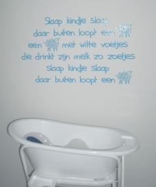 Slaap kindje Slaap, geplakt  op glasvezelbehang door Egbert