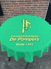 "Bedrukken tafelkleden carnavalsvereniging ""De Pompers"""