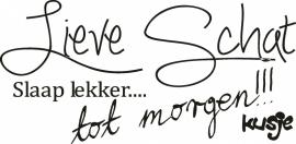 """Sticker """"Lieve Schat .. """""""