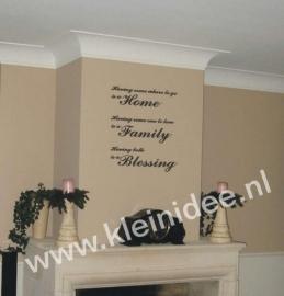 Home, Family, Blessing  60x70cm