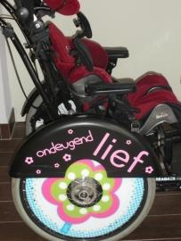 rolstoel wielbeschermers van Dagmar