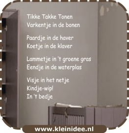 """Sticker """"Tikke Takke Tonen"""" 60x80cm"""