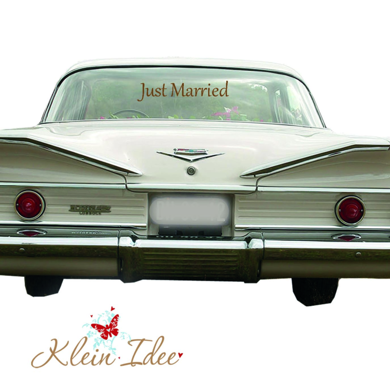 "Sticker Trouwauto ""Just Married"" 30cm x 6,5cm"