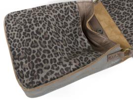 Crossbody tas luipaardprint leer