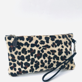 Clutch koeienvacht luipaard print 3 color (M)