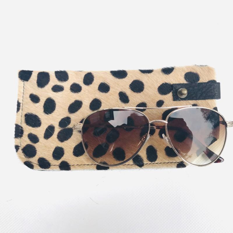 Brillen etui koeienvacht luipaard print