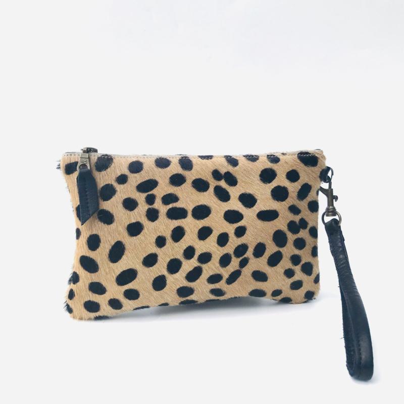 Clutch koeienvacht cheetah print (S)