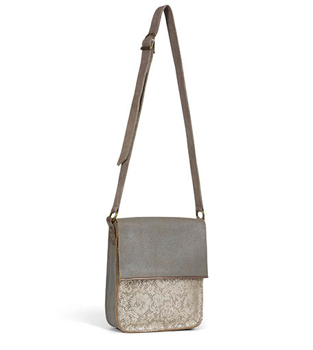 Crossbody tas metallic
