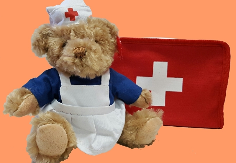Bereleuke verpleegster in koffertje beterschapset