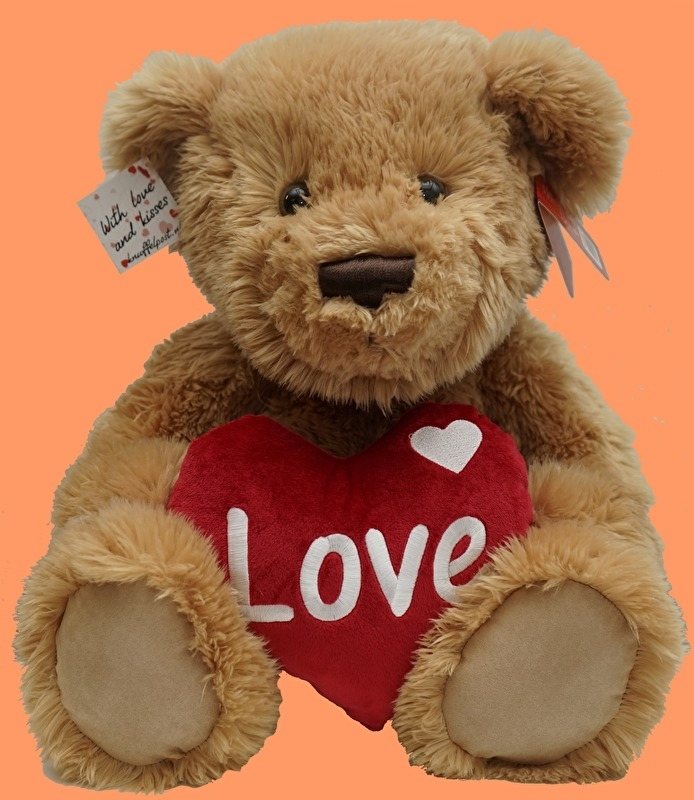 LOVE YOU beer 40 cm Robby (Bruin)