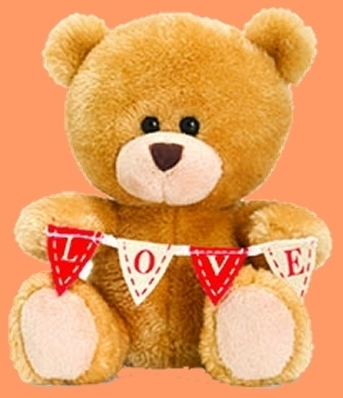 Mini-LOVE-Bear met LOVE-vlaggelijn