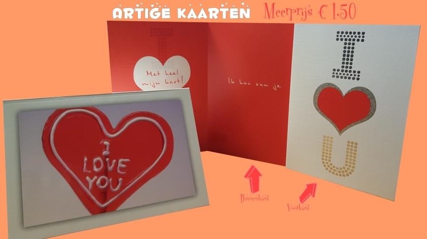 Artige LOVE-YOU kaart 2016