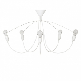 Heavy guy chandelier white
