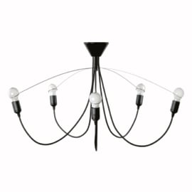 Heavy guy chandelier black