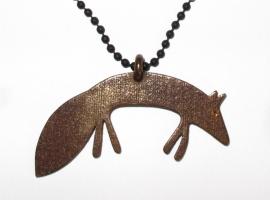 NEW Necklace Monsieur Reinaert in bronz metal