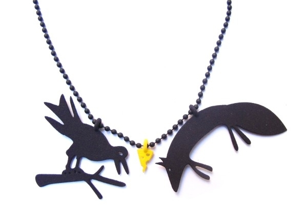NEW Necklace The Raven and the Fox