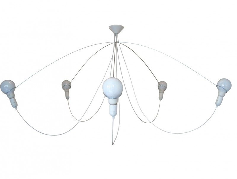 Heavy guy chandelier XL in white
