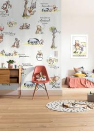 Disney Fotobehang Winnie Pooh - Stripes DX4-001