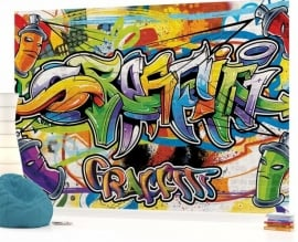 For Wall Fotobehang Graffiti 1400P8