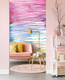 Eijffinger Stripes+ Wallpower 377209 Aqualines Summer