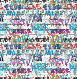 Noordwand Kids@Home Inidvidual behang Graffit Multi 101686