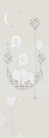 Behangexpresse Sofie & Junar Wallprint Elephant in the Room Sand INK7627