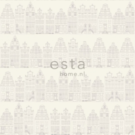 Esta Home Denim & Co. Amsterdam houses silver 137716