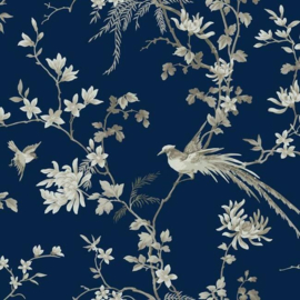 York Wallcoverings Ronald Redding 24 Karat behang Bird and Blossom Chinoiserie KT2171