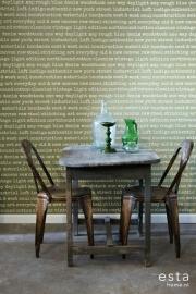 Esta Home Denim & Co. text olive green 137705